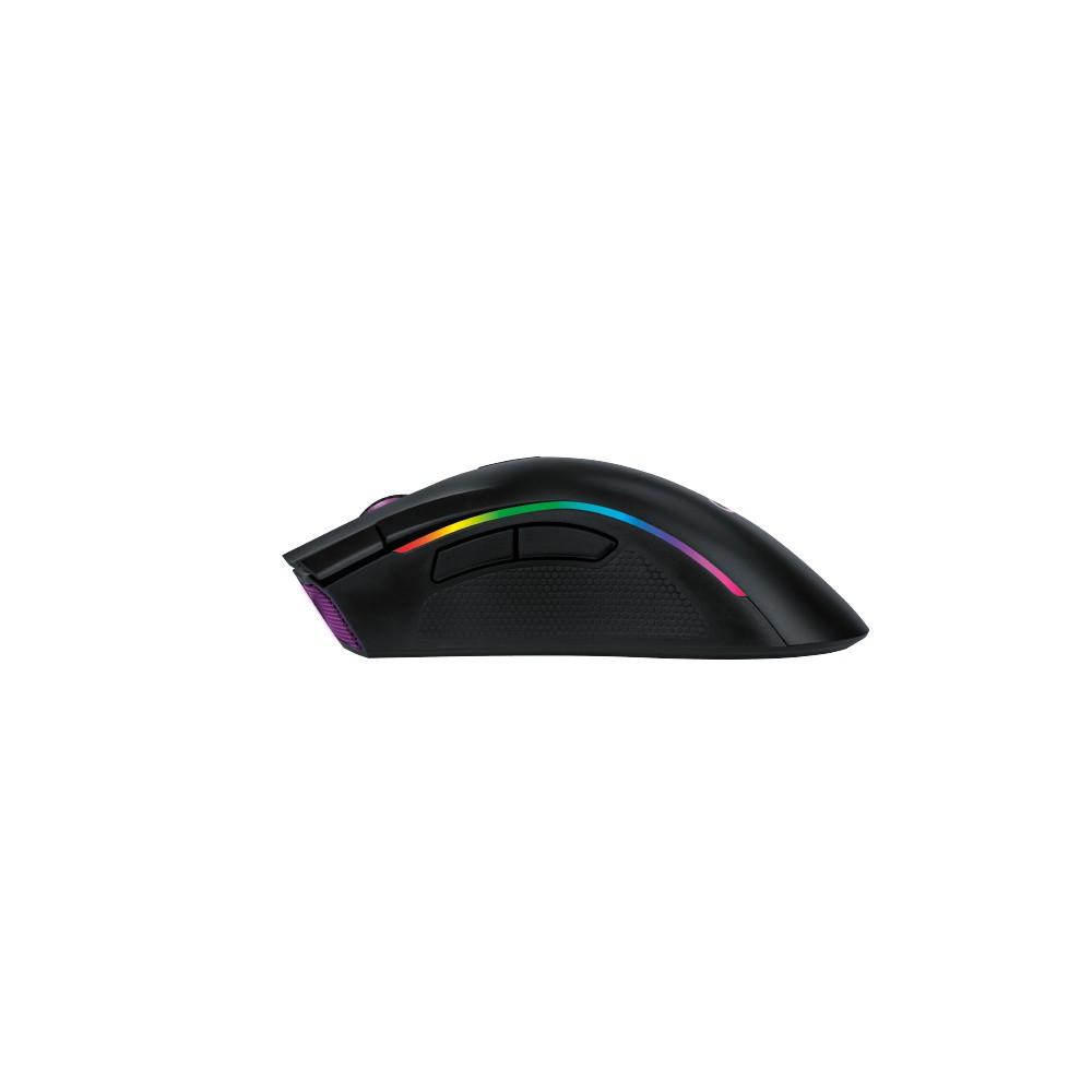 Mouse Gamer Graphic Preto Com Led Rosa Macro 10000 Dpi Oex