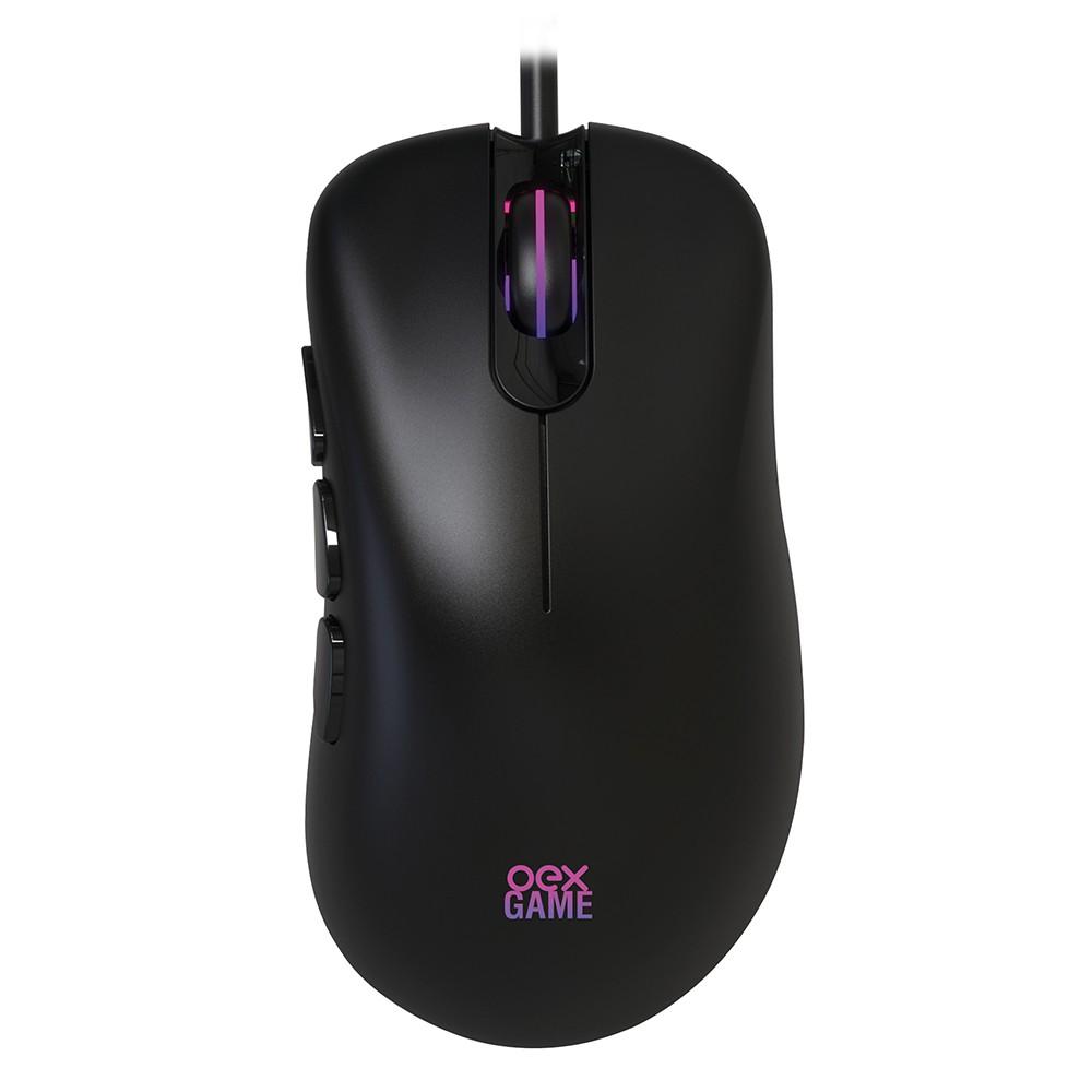 Mouse Gamer Óptico Adrik Ms321 6400 Dpi Led Em Rgb Usb - Oex