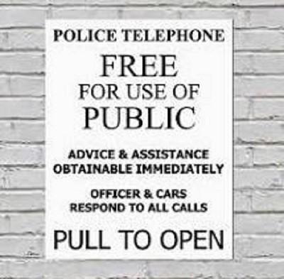 Placa Decorativa Police Call Box