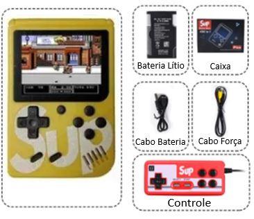 Sup - Mini Game Retro Amarelo com 400 Jogos e Controle