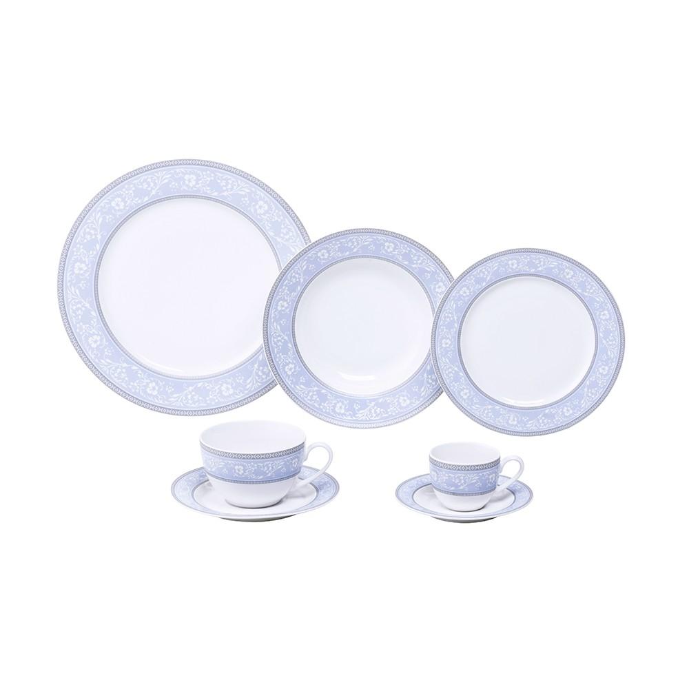 Aparelho de Jantar de Porcelana Super White Garden  - 42 Peças