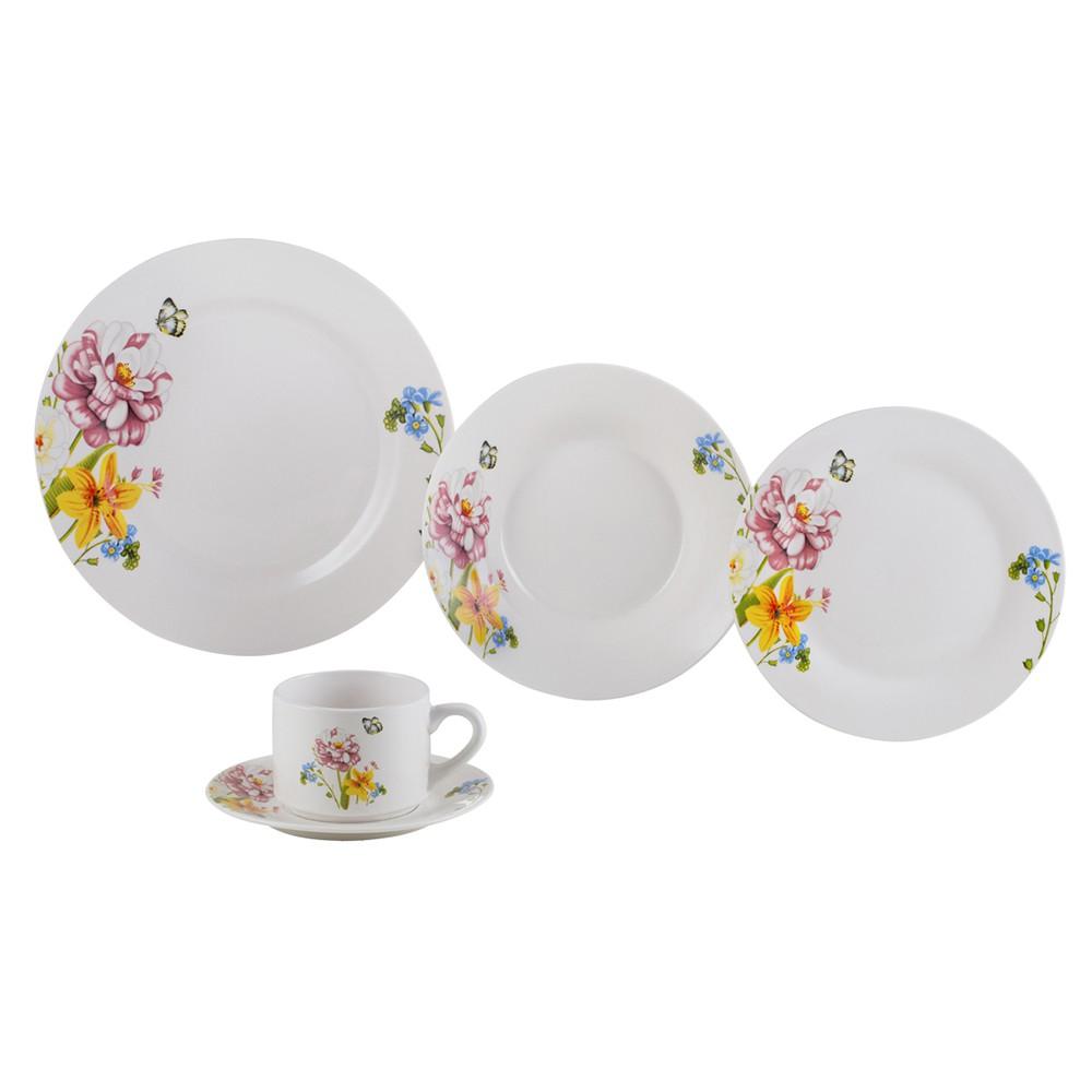 Aparelho de Jantar Porcelana Summer - 20 Peças