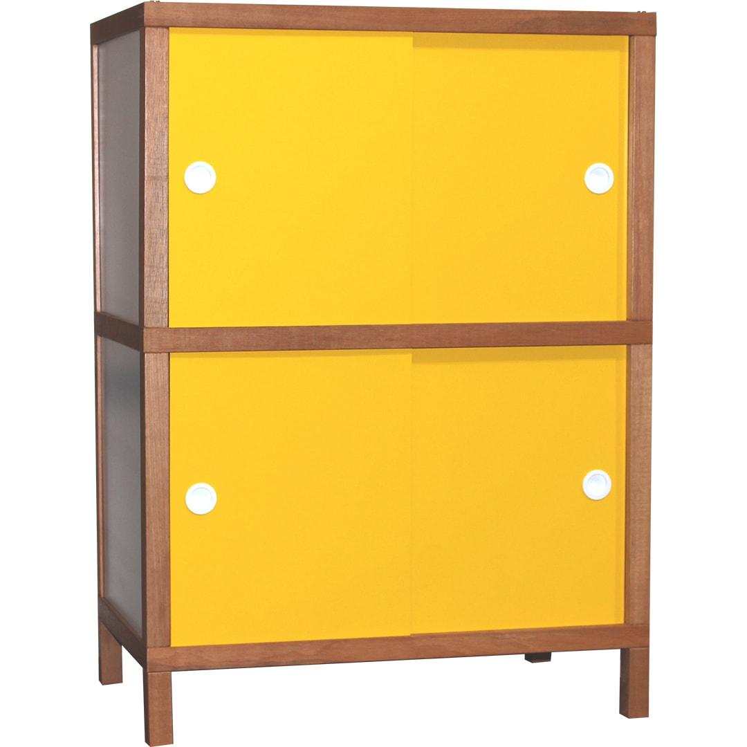 Armário 4 portas - Amarelo