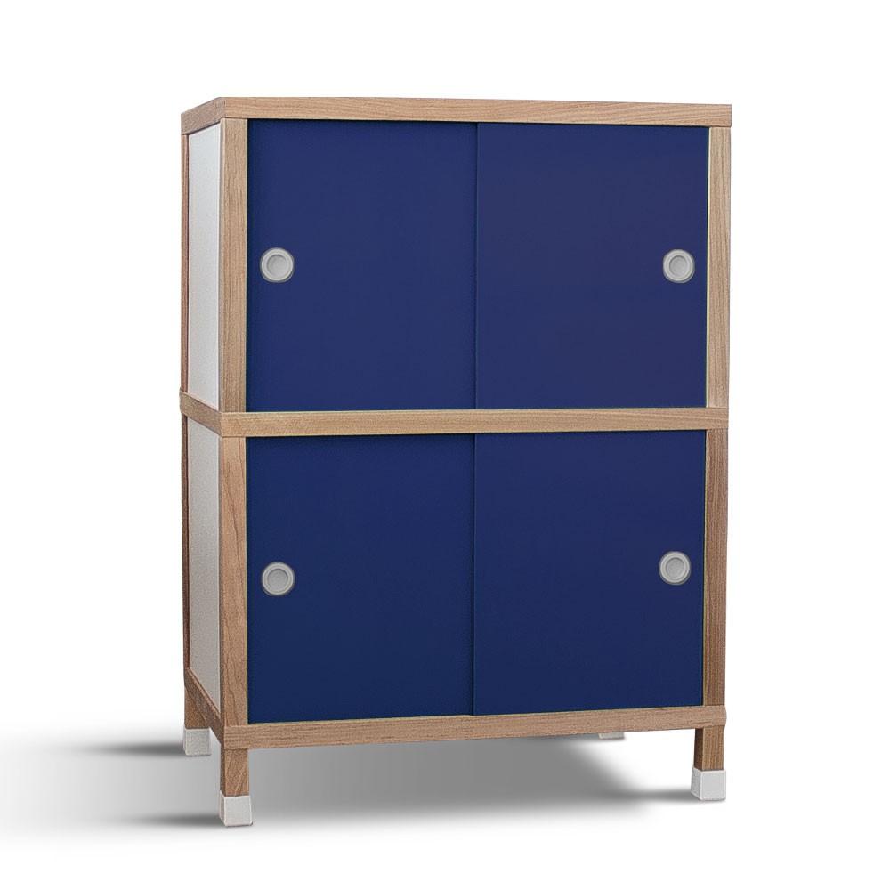 Armário 4 portas - Azul