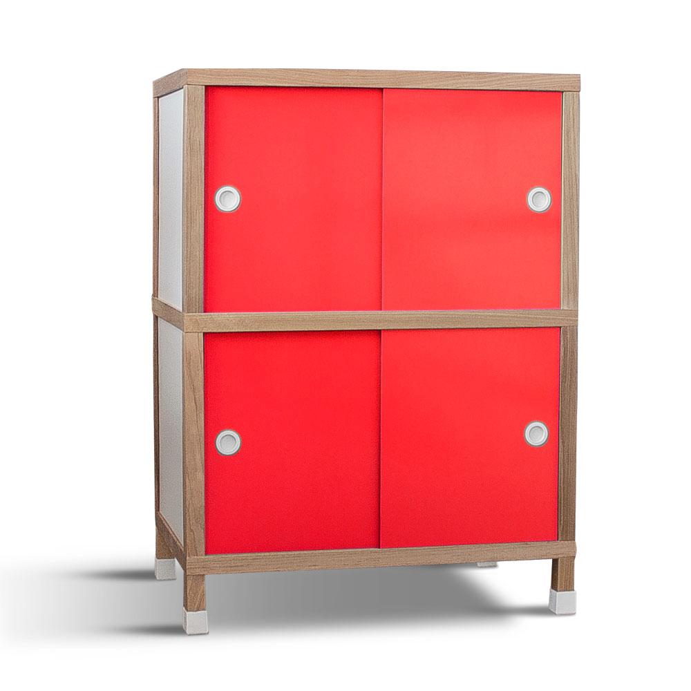 Armário 4 portas - Vermelho