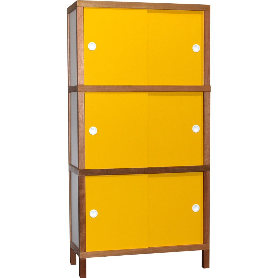 Armário 6 portas - Amarelo
