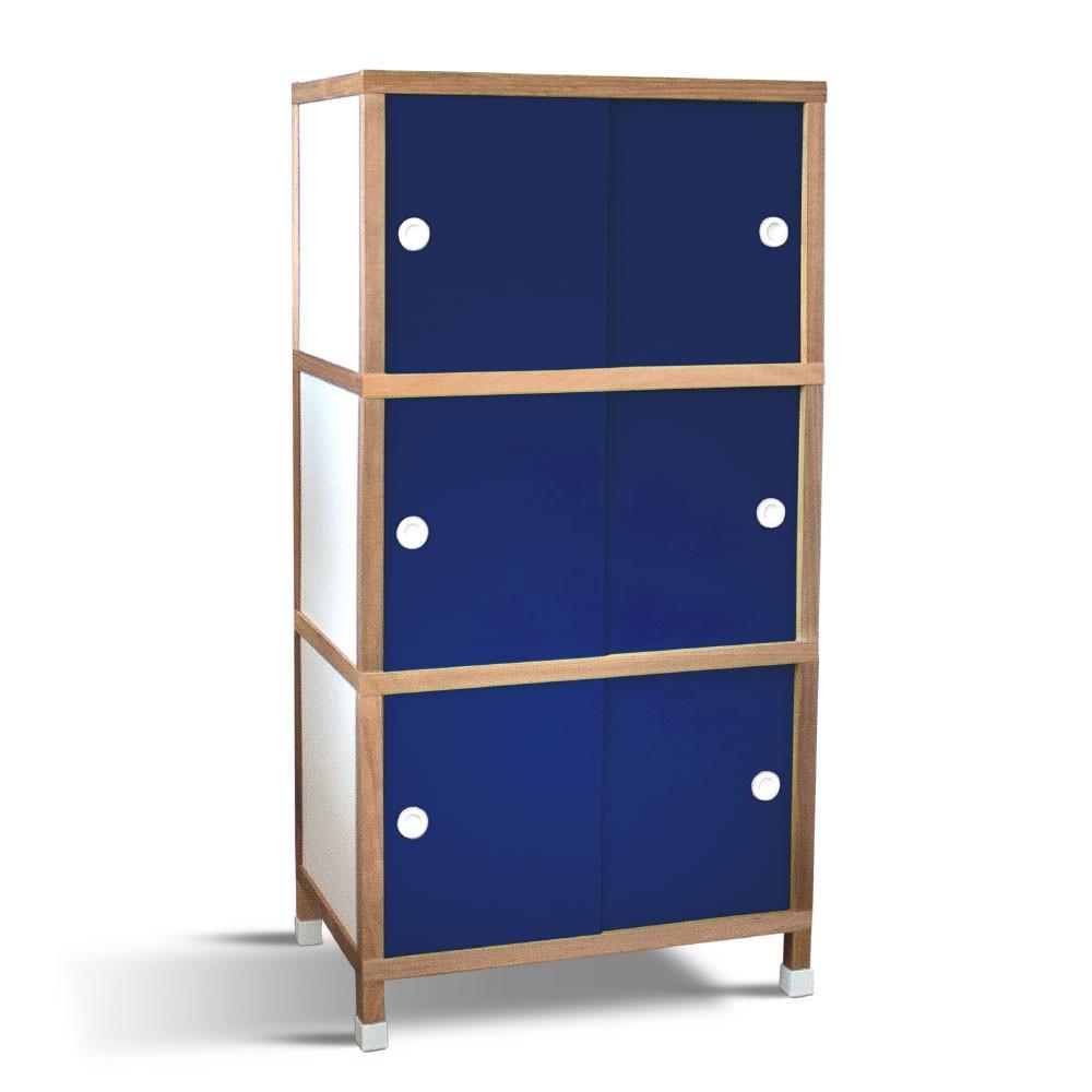 Armário 6 portas - Azul