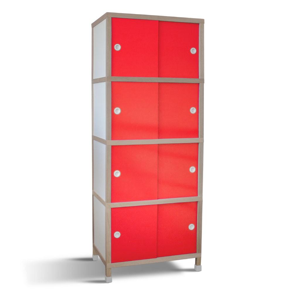 Armário 6 portas - Vermelho