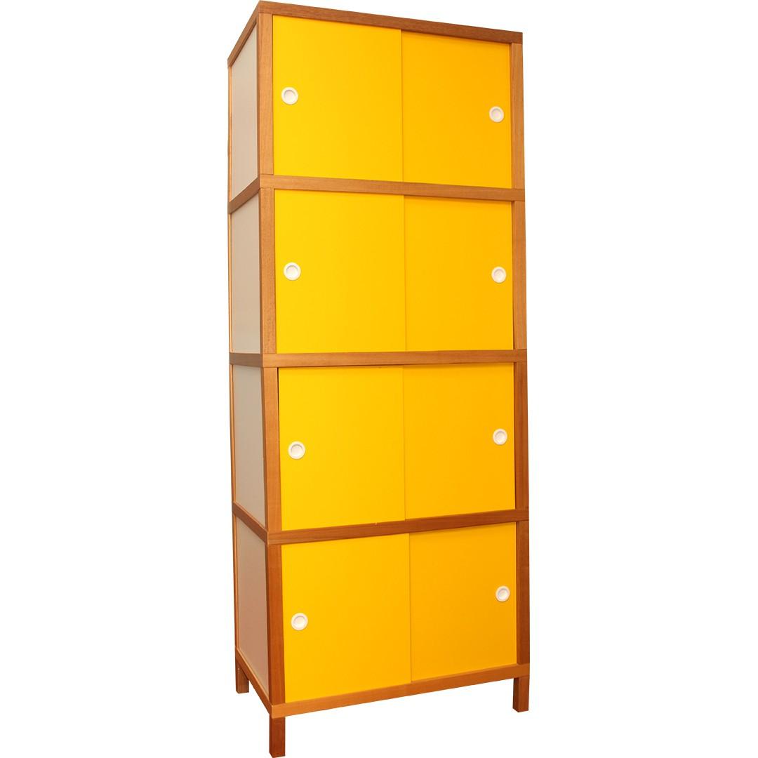 Armário 8 portas - Amarelo