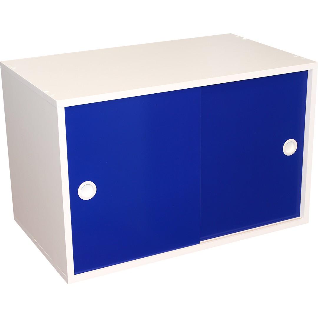 Armário Módulo PT com Porta Correr - Azul