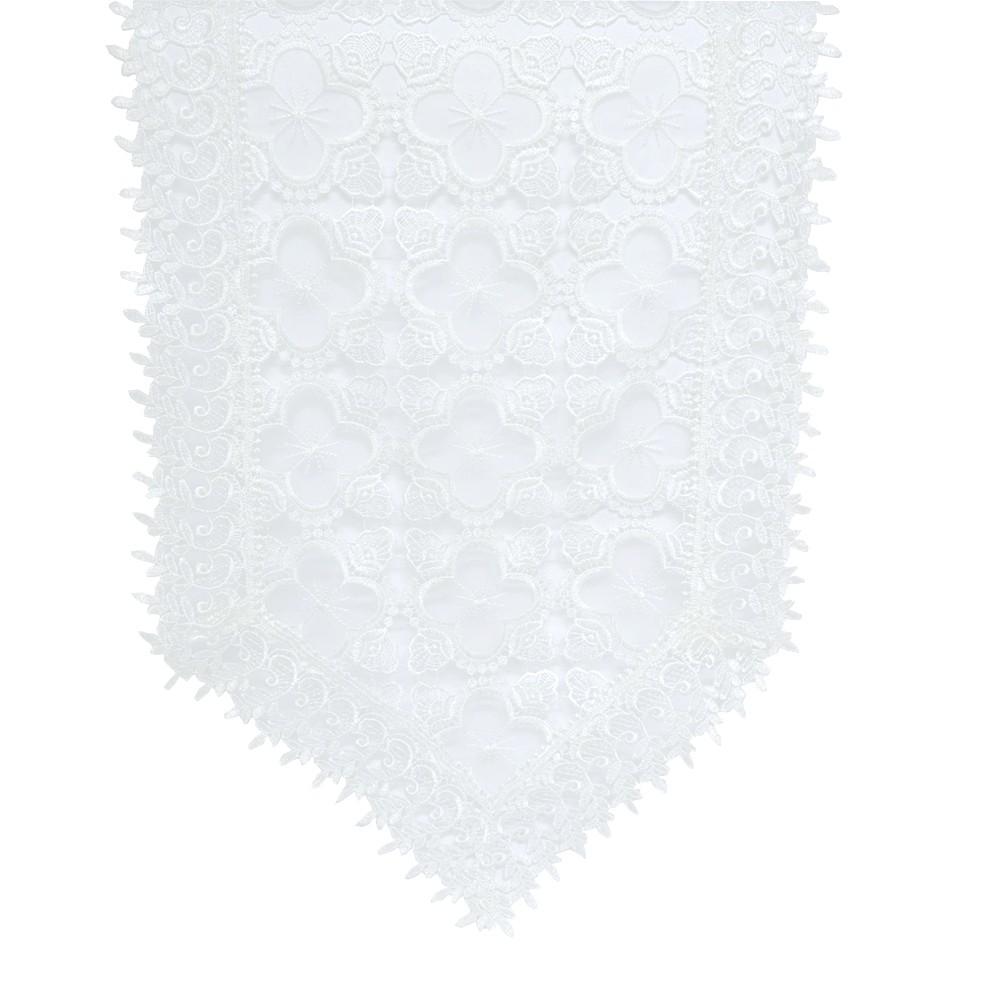 Caminho de Mesa 01 Guipir Holandês Off White 1,50x40 cm