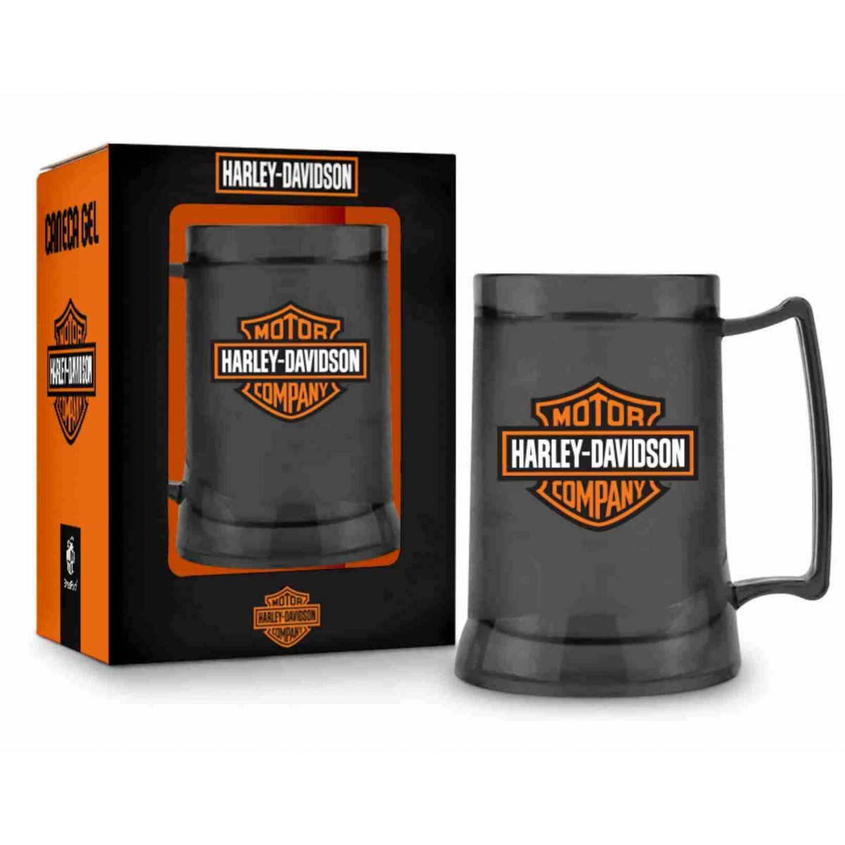Caneca Gel Temas Harley Davidson Fumê 300 ml