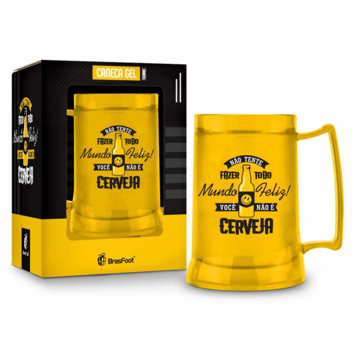 Caneca Gel Temas Você Não é Cerveja Amarelo 300 ml