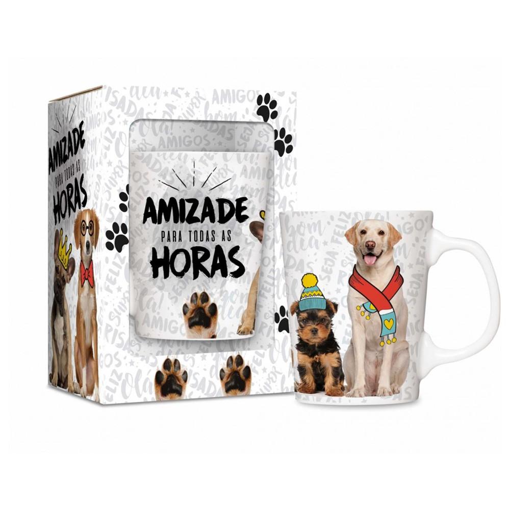 Caneca Porcelana Premium - Amizade Cachorrinho
