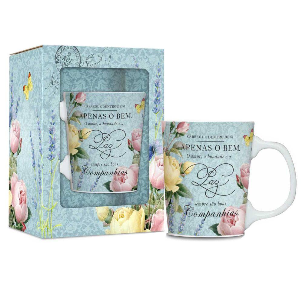 Caneca Porcelana Premium - Shabby Chic