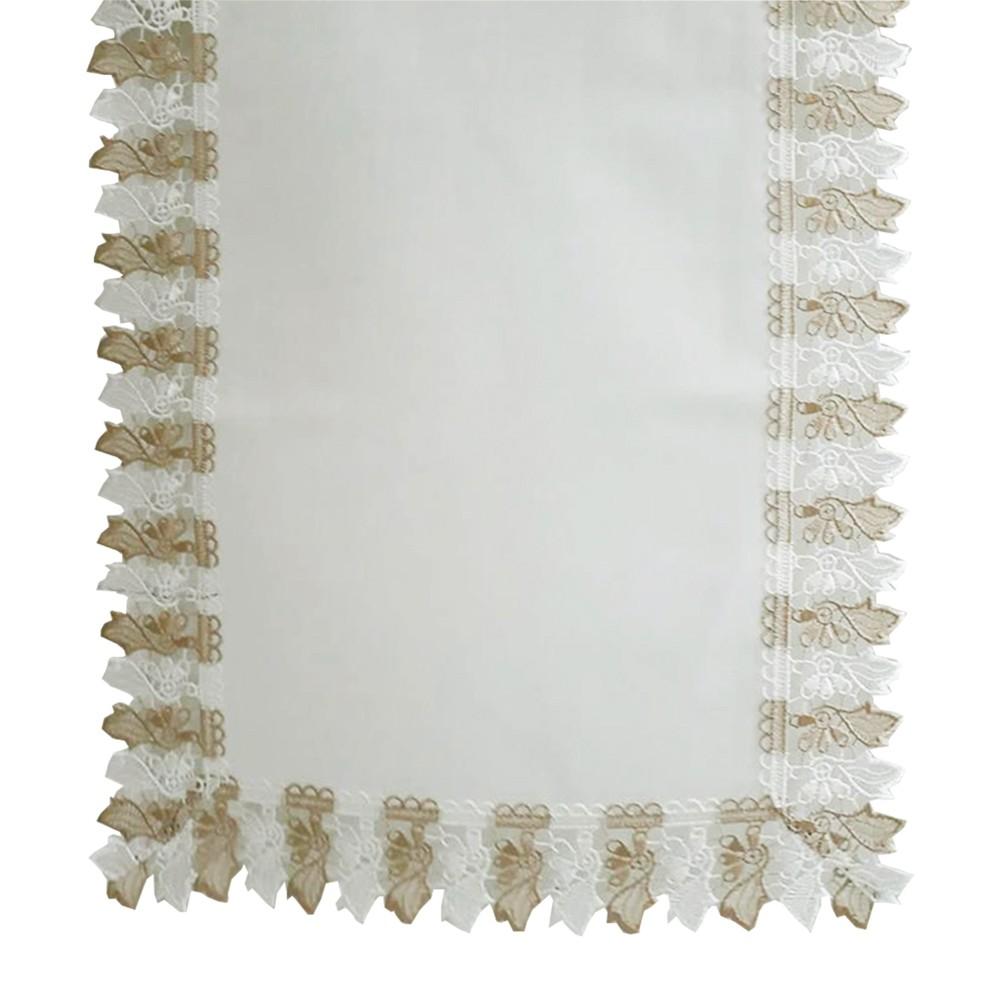Centro de Mesa Guipir Grego Off White 40x90 cm