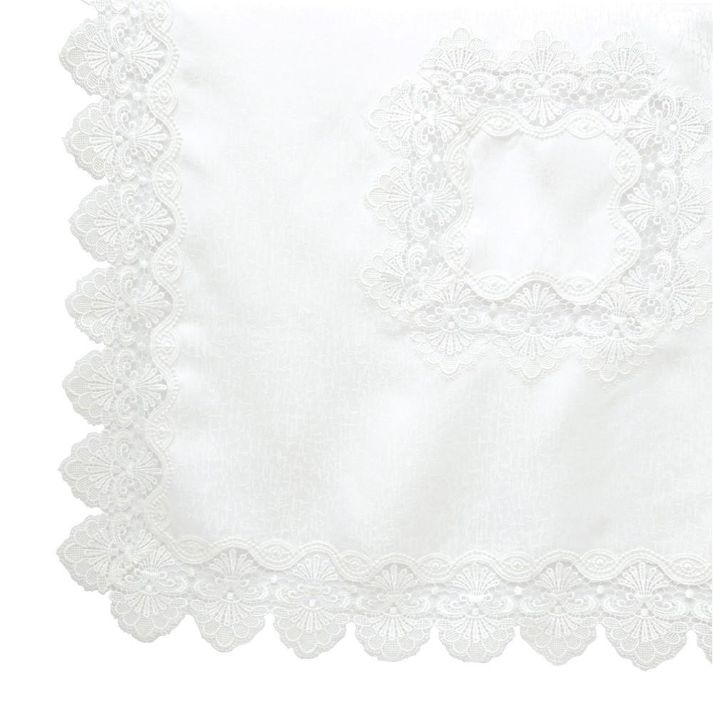 Centro de Mesa Quadrado 003 Guipir Off White 85 cm