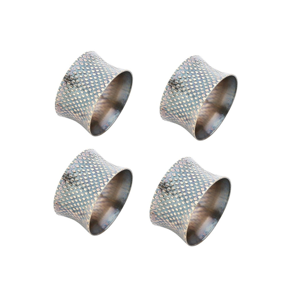Conjunto 4 Porta Guardanapos de Alumínio - Dourado e Preto
