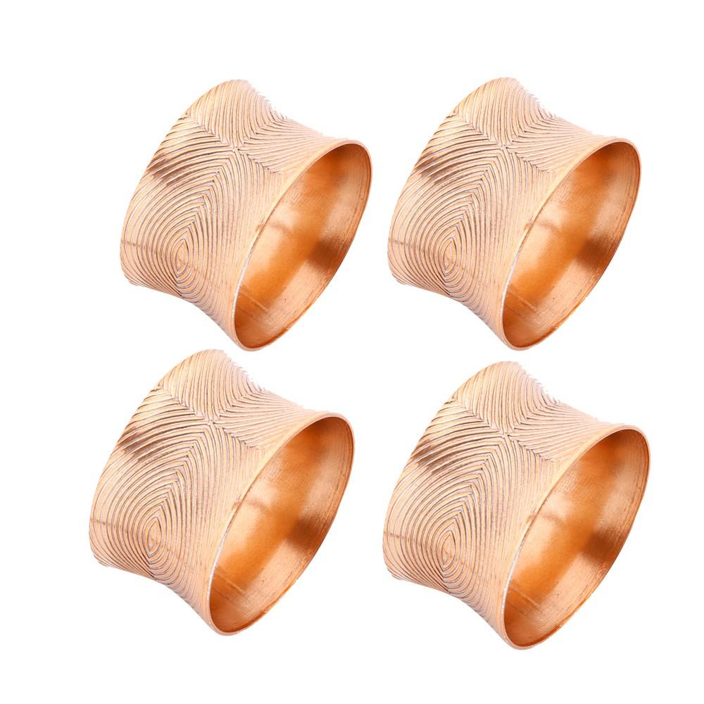 Conjunto de 4 Porta Guardanapos de Alumínio - Cobre