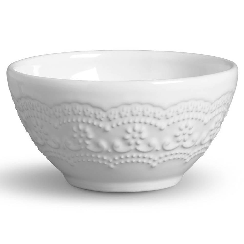 Conjunto de Bowls Madeleine Cerâmica Branco - 6 Peças
