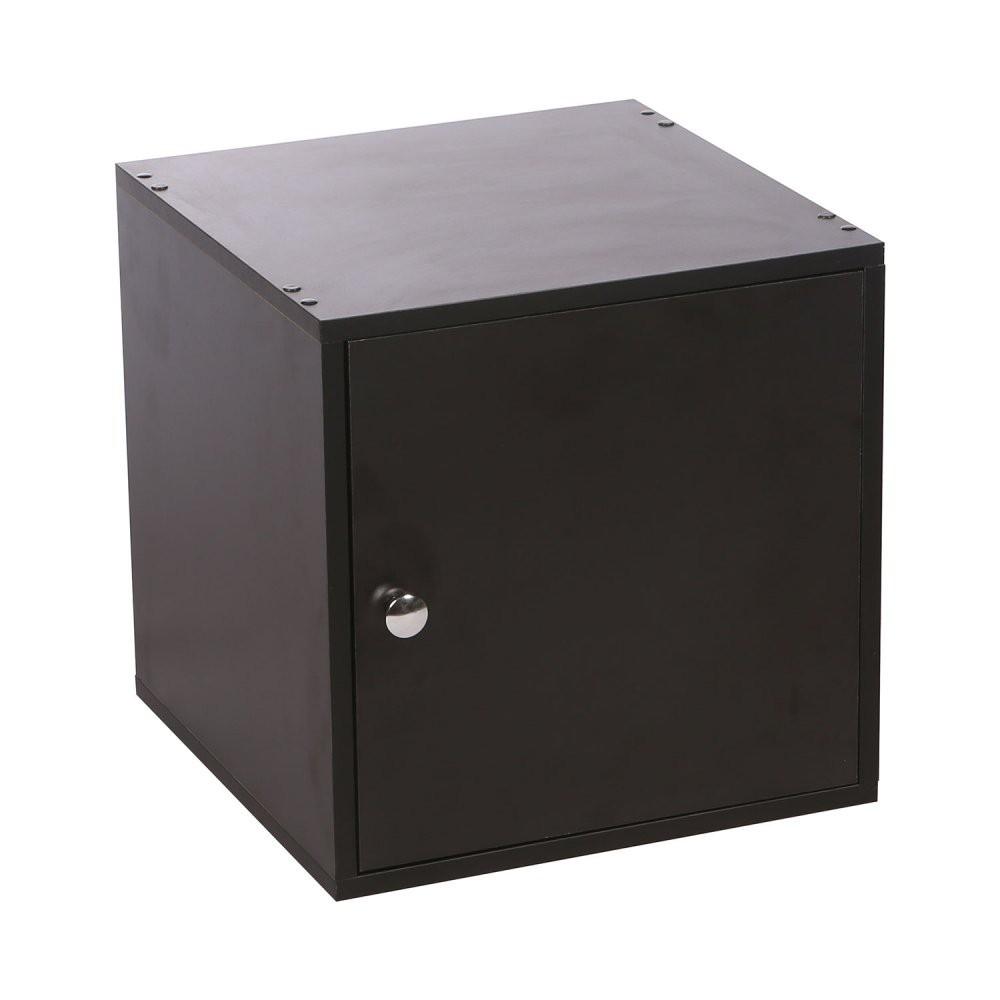 Cubo 40 Preto Com Porta