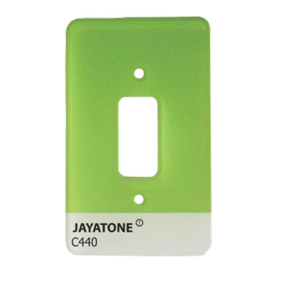 Espelho de Interruptor Jayatone-Verde