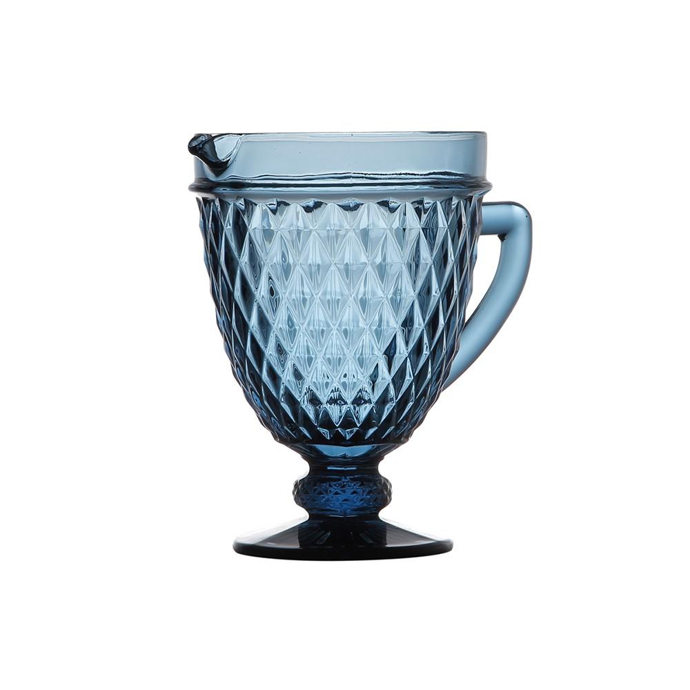 Jarra de Vidro Bico de Abacaxi 1 L - Azul
