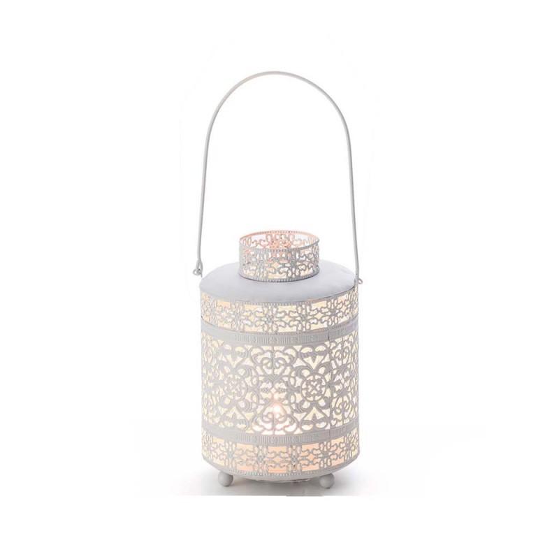 Lanterna de Metal Branca 18 cm