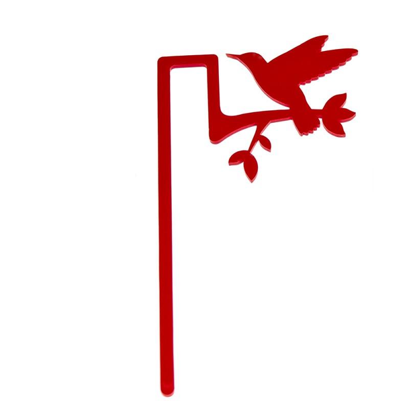 Marcador de Livro Beija-Flor-Vermelho
