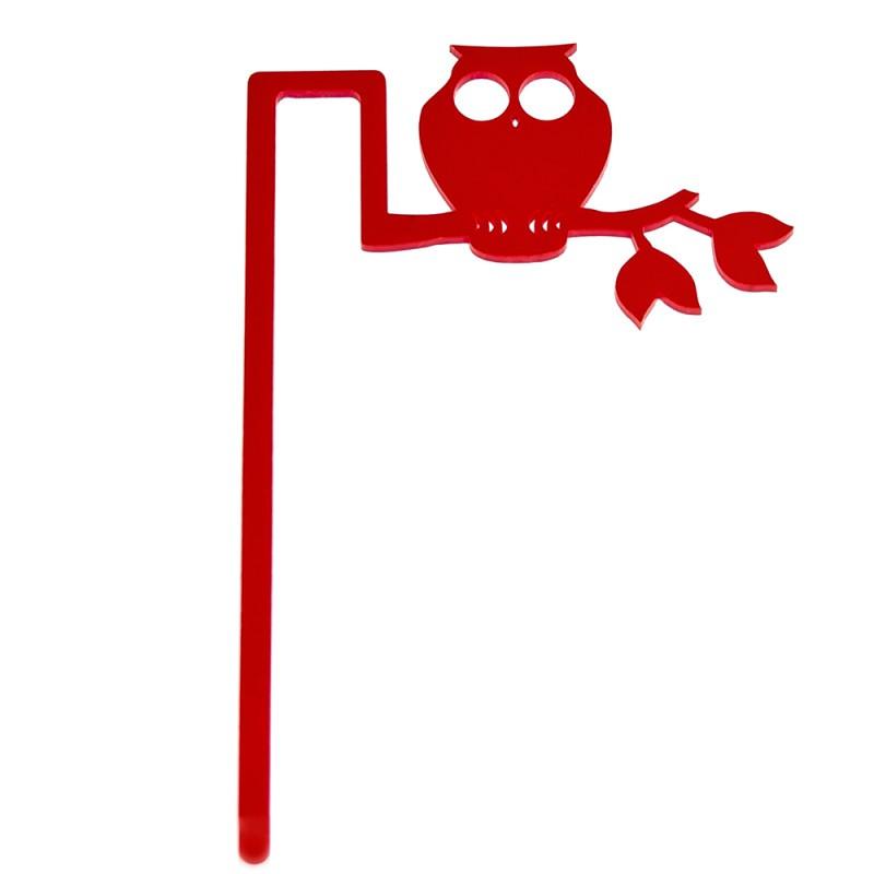 Marcador de Livro Coruja-Vermelho