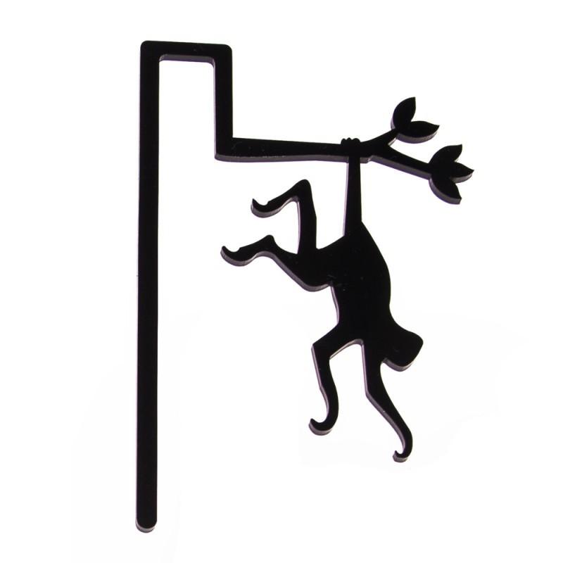 Marcador de Livro Macaco-Preto