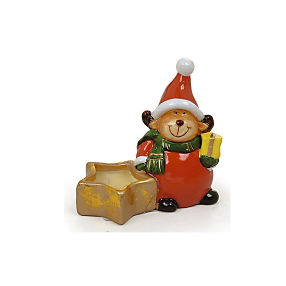 Mini Urso Noel Estrela com Vela