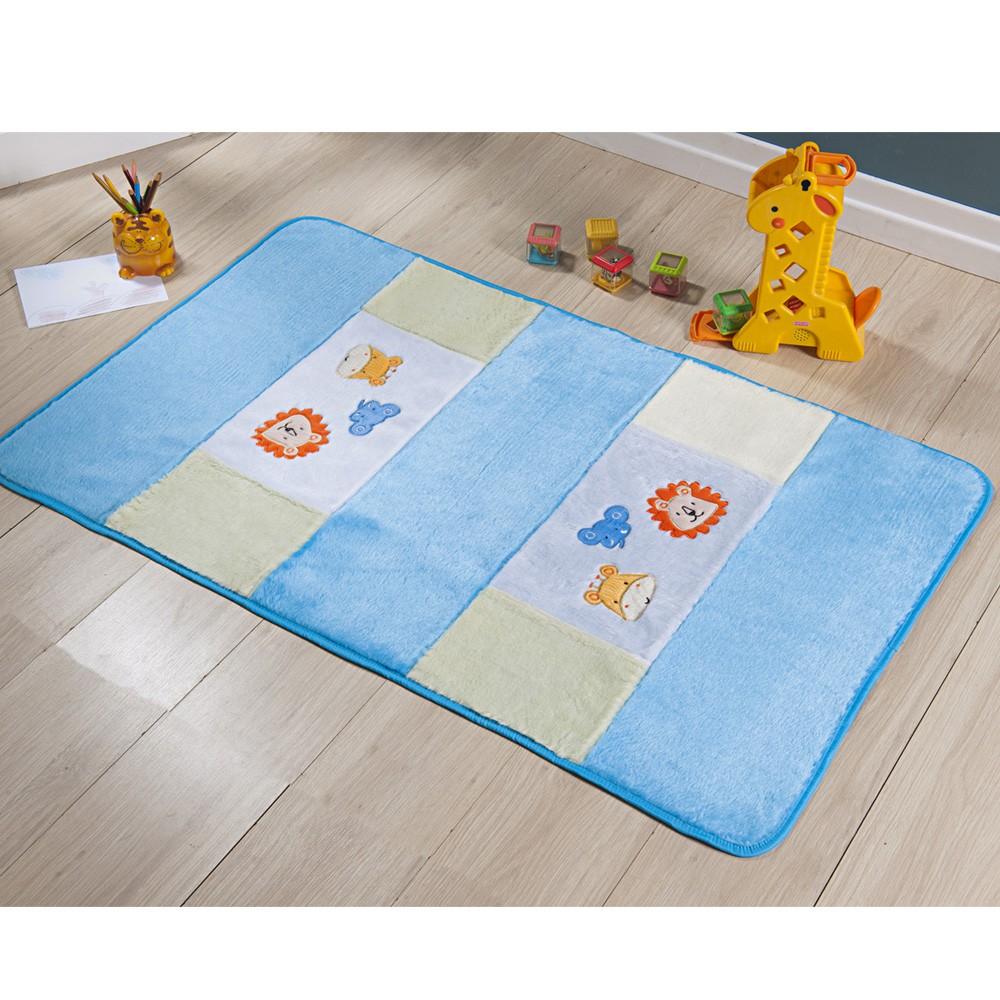 Passadeira Infantil Animais Azul Turquesa 1,20x0,74 cm