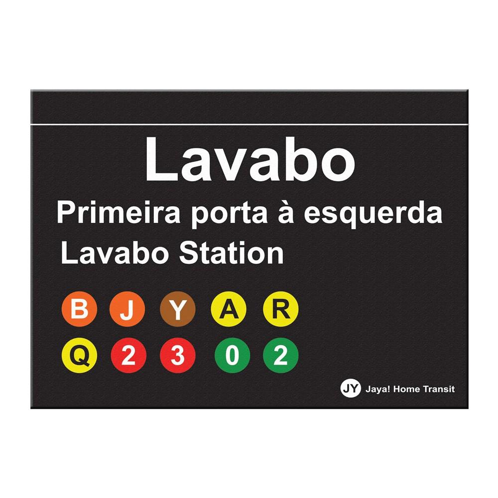 Placa de Lavabo Station