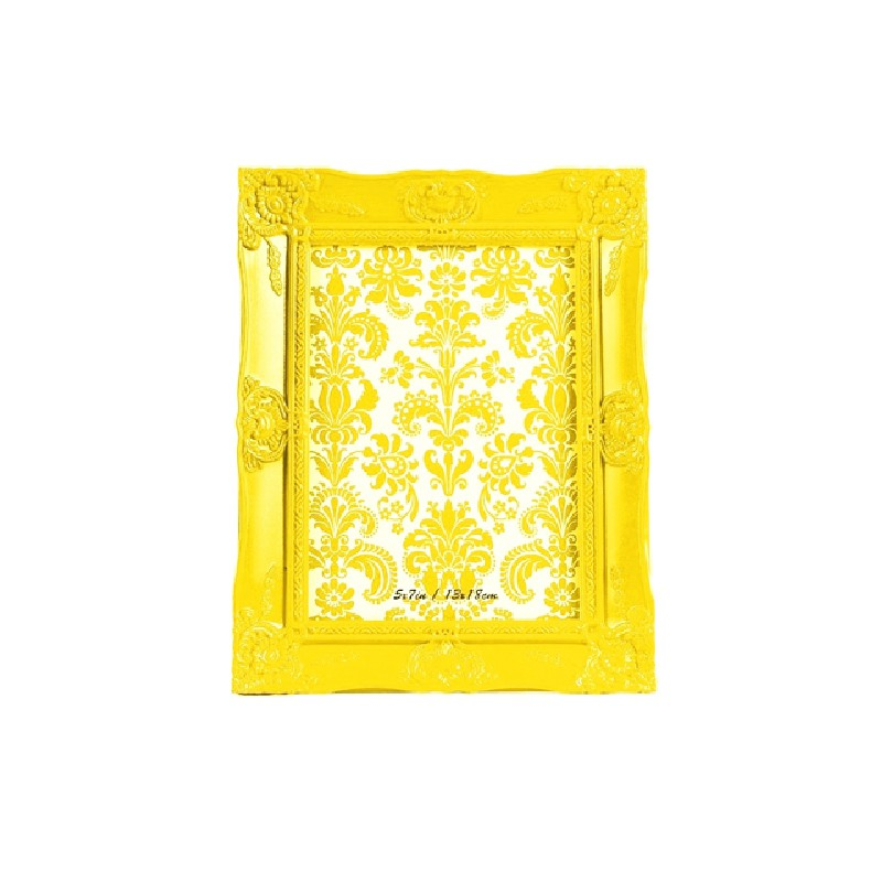 Porta Retrato New Cirque - 13x18 cm-Amarelo