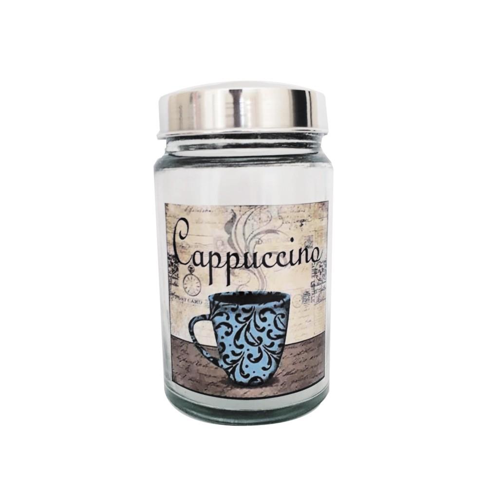 Pote de Vidro Vintage Cappuccino 1 L