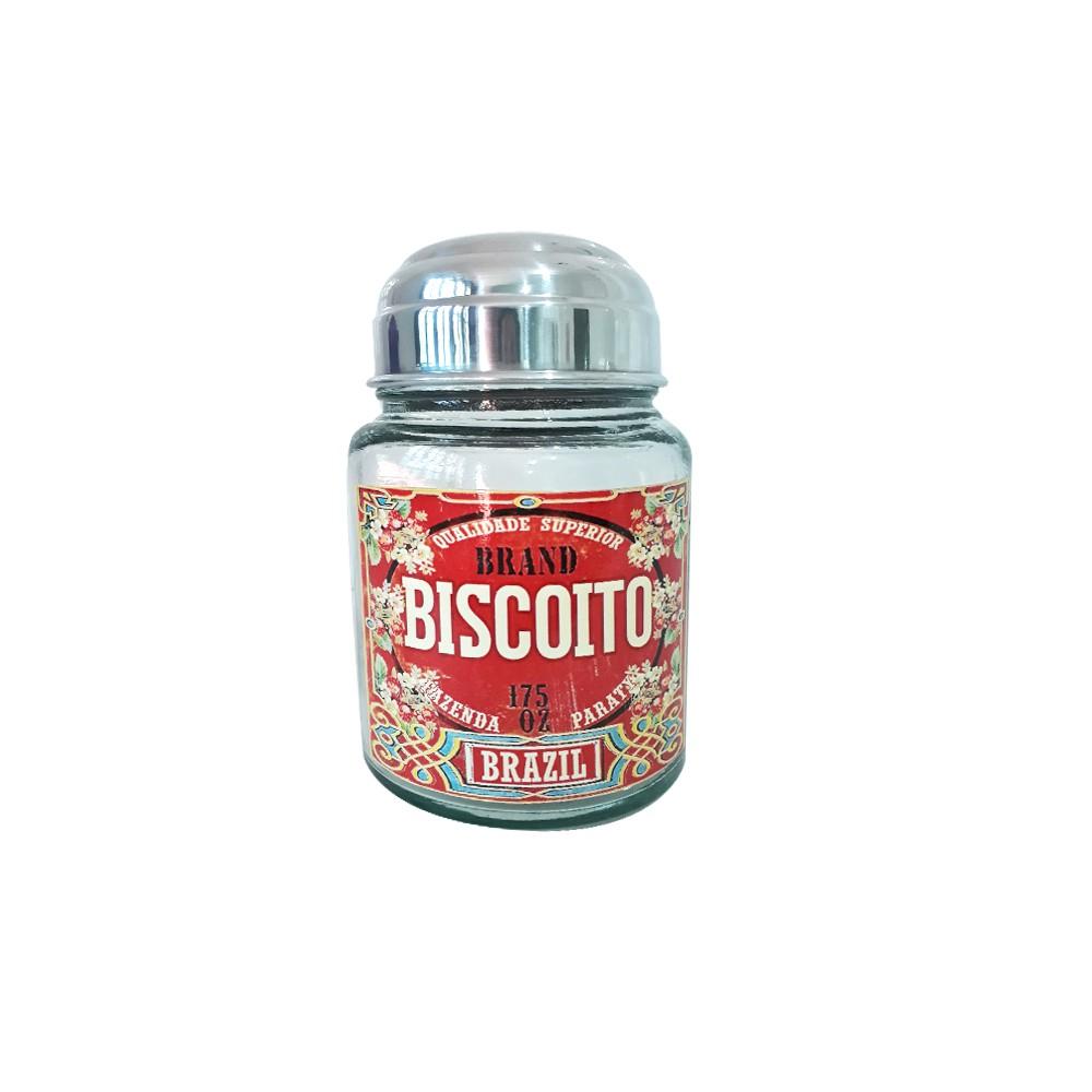 Pote Vidro para Biscoito Brazil 1,3 L