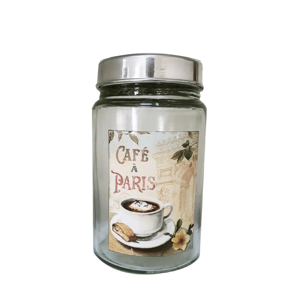 Pote Vidro Vintage Café a Paris 1 L