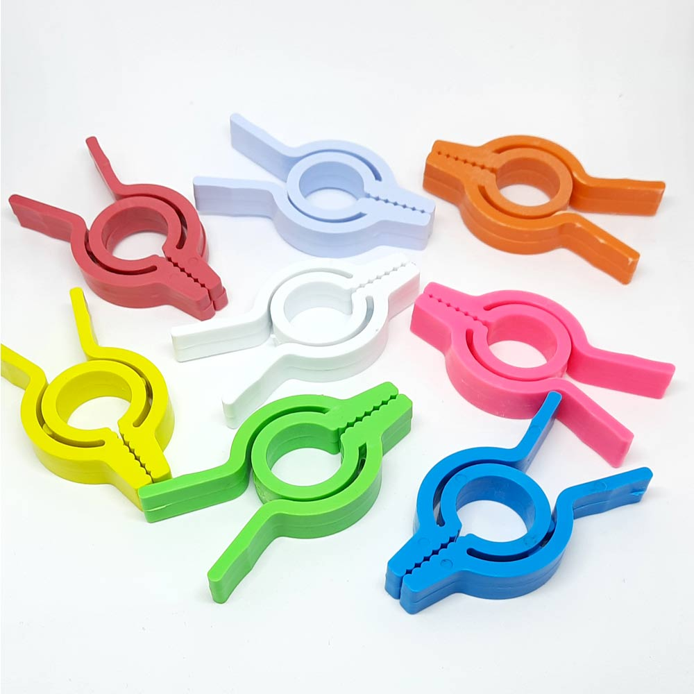 Prendedores Coloridos de Plástico para Roupas ou Embalagens 24 Peças