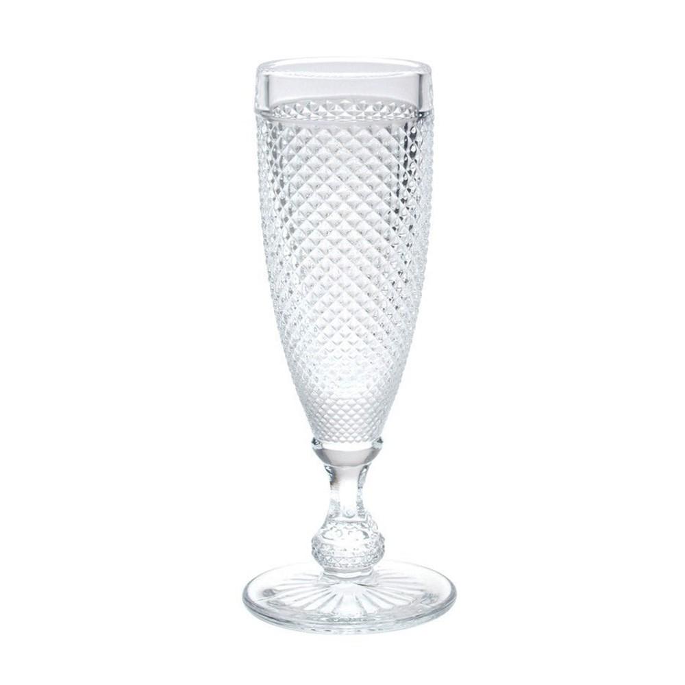 Taça Champagne Bico de Jaca Flute-Clear