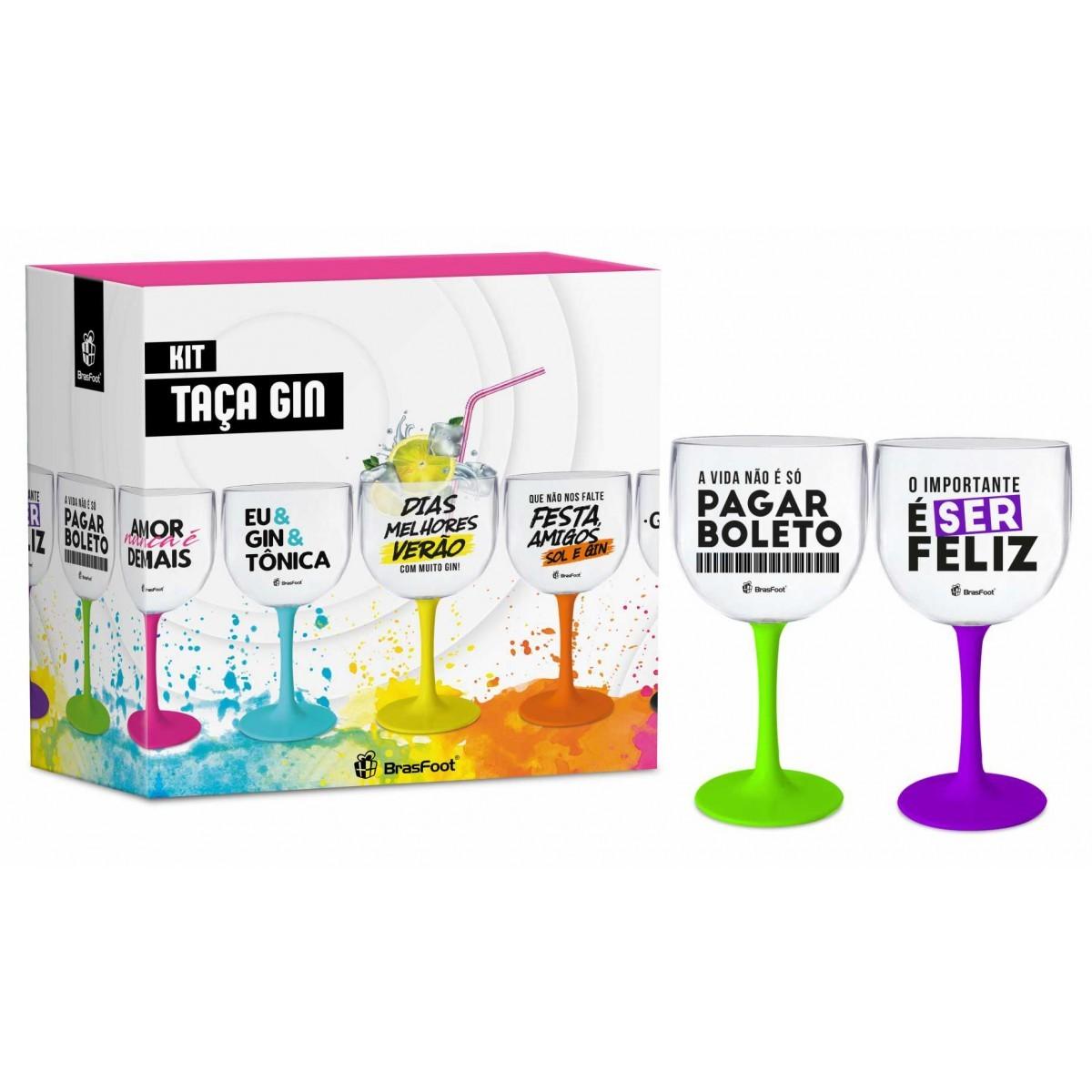 Taça Gin Bicolor - O Importante é Ser Feliz - 2 UN