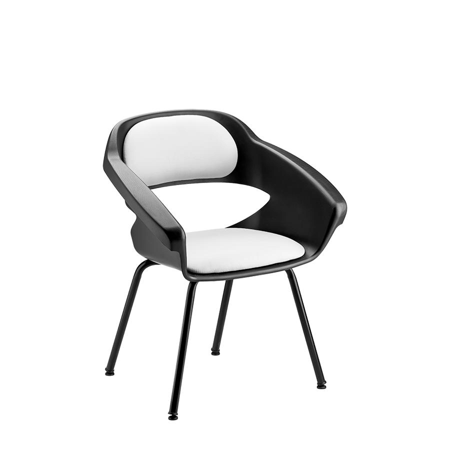 Cadeira de Espera Primma Cromada Dompel