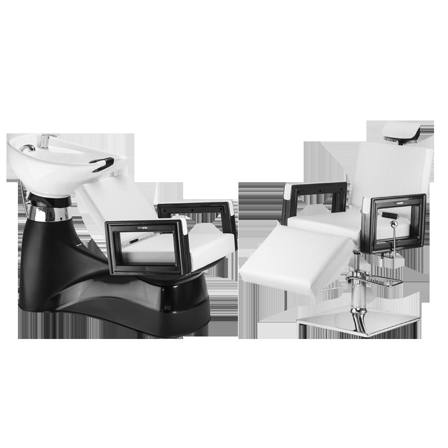 Combo Cadeira E Lavatório Square Make Dompel