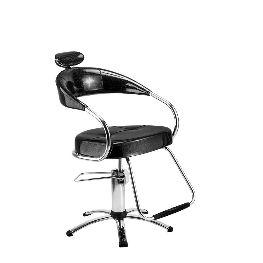 Cadeira Futura Hidráulica Plastificada Preta Dompel