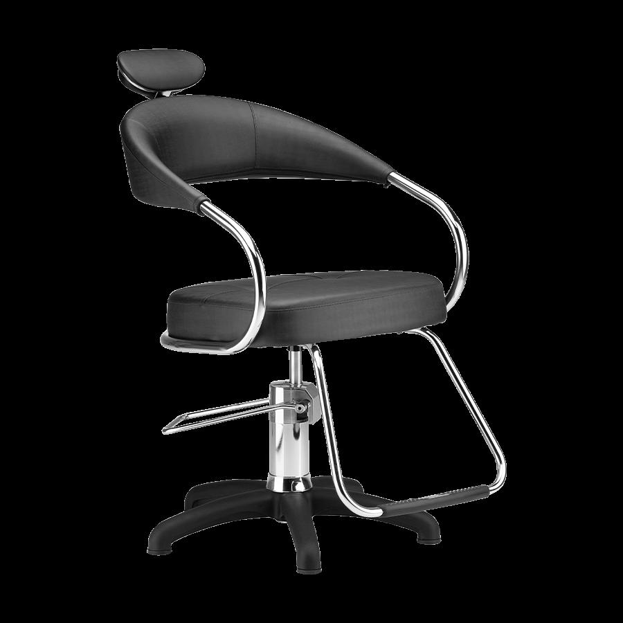 Cadeira Futura Hidráulica Preta Plus - Pé Nylon Dompel