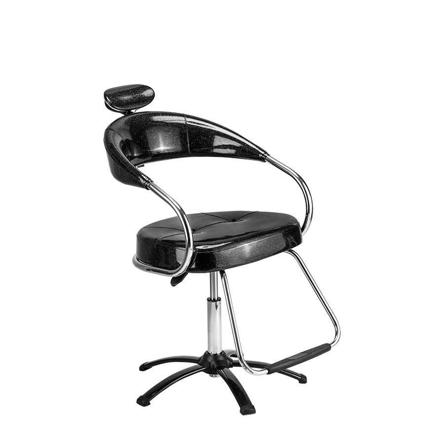 Cadeira Futura Manual Plastificada Preta Dompel