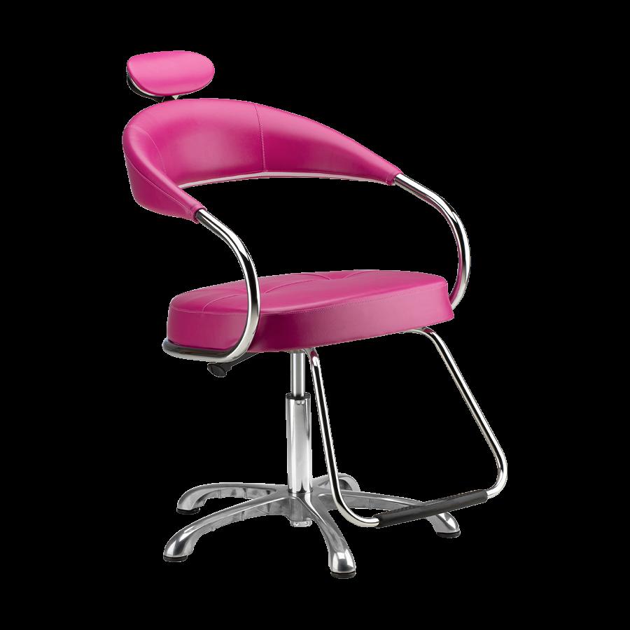 Cadeira Futura Manual Rosa - Pé Cromado Dompel