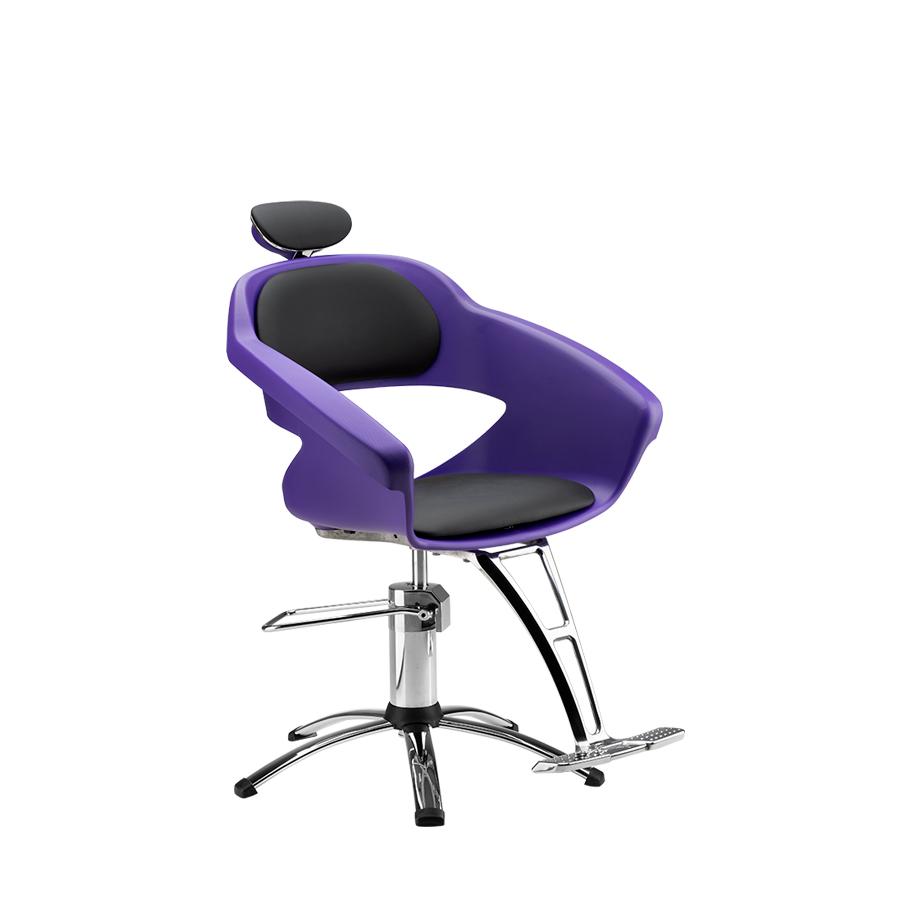Cadeira Primma Hidráulica ROXA/PRETO- Apoio de pé Alumínio