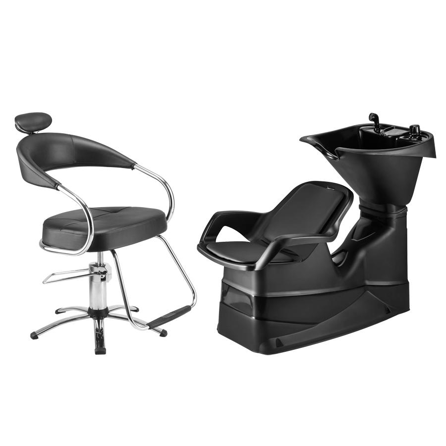 Combo Cadeira Futura Hidráulica +lavatório Champ Reclinável Dompel
