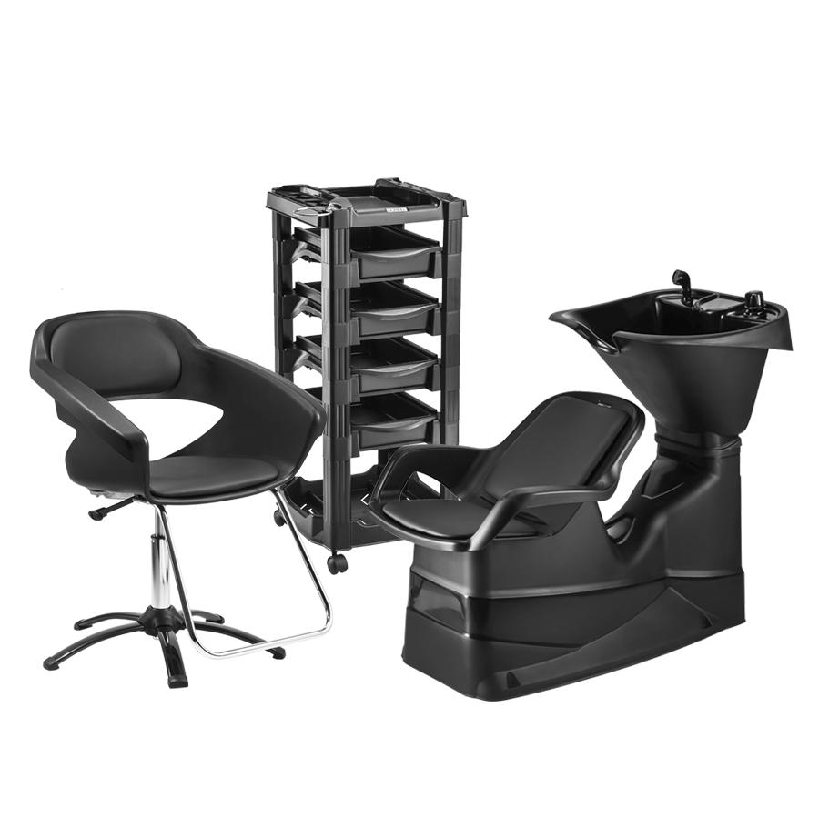 Combo Champ reclinável+ cadeira Manual Primma Sem Apoio de Cabeça e Carrinho Vegas